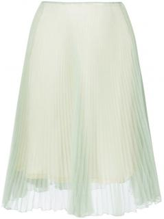 Prada light green pleated skirt