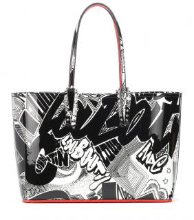 Christian Louboutin graffiti tote bag