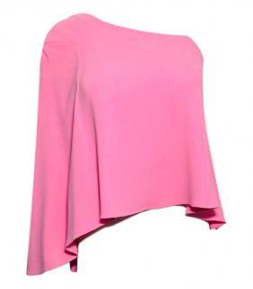 Roland Pink Mouret One Shoulder Top.