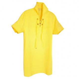 Emilio Pucci yellow cotton/silk blend dress