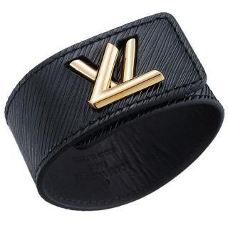 Louis Vuitton noir �pi eelctrique twist bracelet