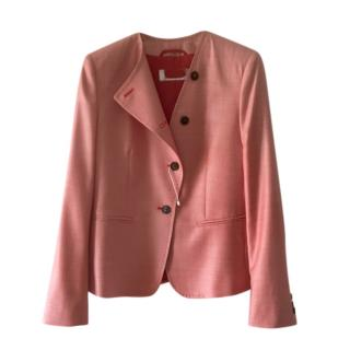 MaxMara soft red wool and silk blend jacket