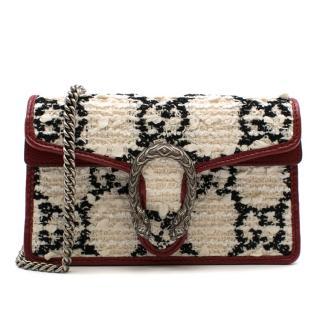 Gucci Dionysus Super Mini Leather-Trimmed Tweed Shoulder Bag