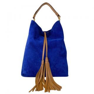 Marni Blue Suede Hobo Bag