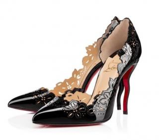 Christian Louboutin Black Patent Beloved 120 Pumps