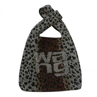 Alexander Wang Crystal Mesh Leopard Print Tote Bag