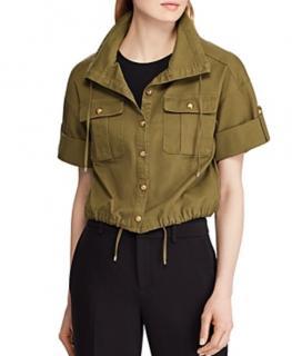 Lauren Ralph Lauren Khaki Cropped Safari Jacket