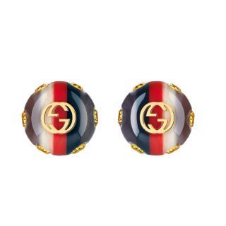 Gucci Vintage Sylvie Web Earrings