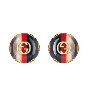 Gucci Vintage Sylvie Web Earrings