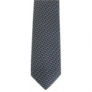 Patek Philippe Blue & Silver Silk Tie