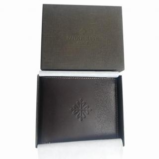 Patek Philippe dark brown leather wallet