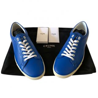 Celine by Hedi Slimane Men's Blue Triomphe Sneakers