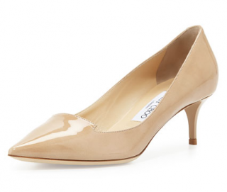 Jimmy Choo Allure Pointed Patent Loafer Pumps in Nude