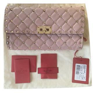 Valentino Pink Rockstud Quilt Shoulder Bag