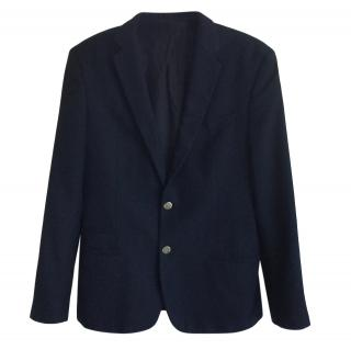 Dolce & Gabbana Ventanni Navy Textured Tailored Jacket