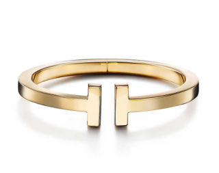 Tiffany & Co Tiffany T 18kt Yellow Gold Square Bracelet