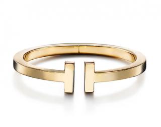 Tiffany & Co Tiffany T 18kt Yellow Gold Square Bracelet