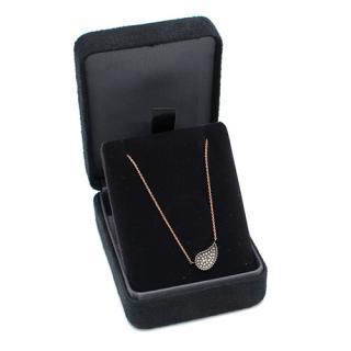 Bespoke Rose Gold Diamond Droplet Necklace