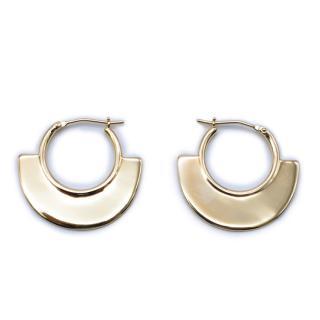 Bespoke Gold Tone Fan Hoop Earrings