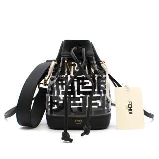 Fendi Mon Tressor PU Mini-Bag with Black Leather Trim