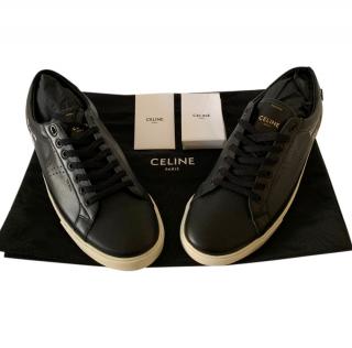 Celine By Hedi Slimane Triomphe Black Sneakers