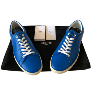 Celine by Hedi Slimane Men's Blue Triomphe Sneakers