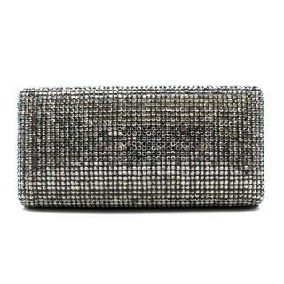 Kotur Silver Crystal Embellished Clutch Bag