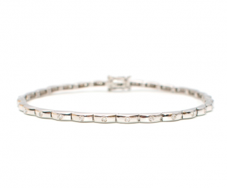 Bespoke Vintage White Gold Diamond Set Bracelet