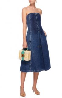 Ralph Lauren Esmee Denim Strapless Dress