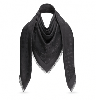 Louis Vuitton Charcoal Monogram Shawl