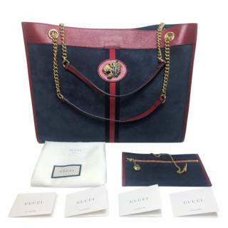 Gucci Suede & Leather Rajah Large Tote Bag
