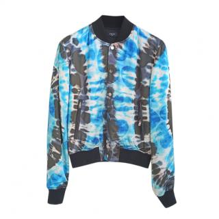 Amiri Blue & Black Tie-Dye Bomber Jacket