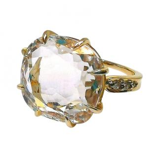 H Stern 18ct Yellow Gold Facet Cut Moonlight Diamond Ring