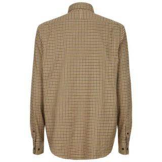 Le Chameau Swinbrook Shirt in Beige Check