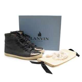 Lanvin denim hi-top trainers