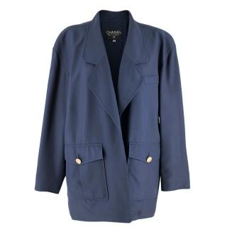 Chanel Blue Oversize Longline Jacket
