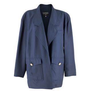 Chanel Blue Oversize Longline Jacket