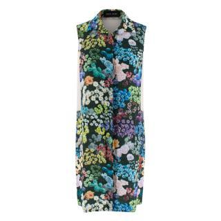 Sophie Hulme Floral Silk Sleeveless Shirt Dress