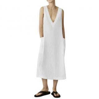 Asceno Seville White Linen Dress