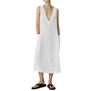 Asceno Seville White Linen Dress