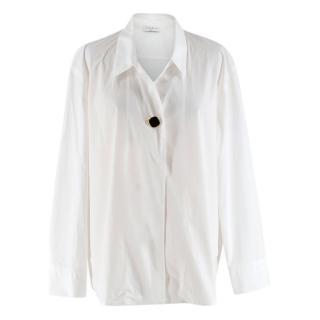 Sandro Paris White Oversized Cotton Shirt
