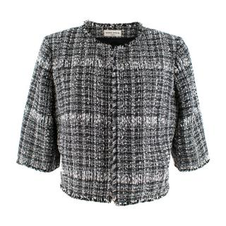 Sonia Rykiel Black & White Tweed Cropped Jacket