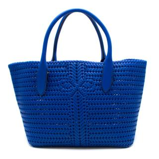 Anya Hindmarch Neeson Tote in Electric Blue Circus