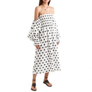Sleeper Polka Dot Atlanta Linen Dress