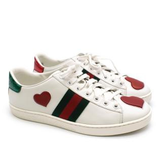 Gucci Low-rise Ace Embroidered White Trainers