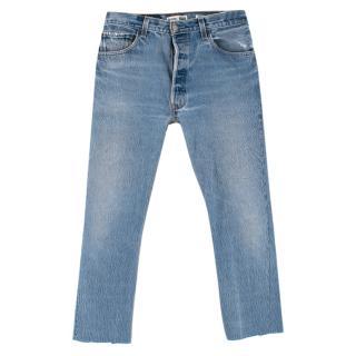 Levi's Re-Done Elsa Light Blue Cropped Jeans