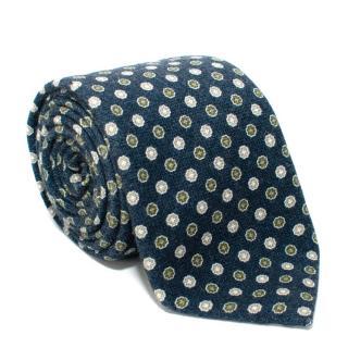 Leoncino Navy Cashmere Tie