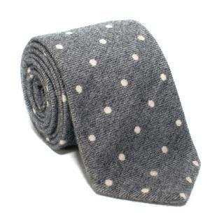 Beretta Grey Polka Dot Cashmere Tie