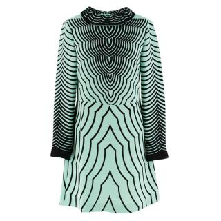 Marc by Marc Jacobs Green Printed Slip Shift Dress
