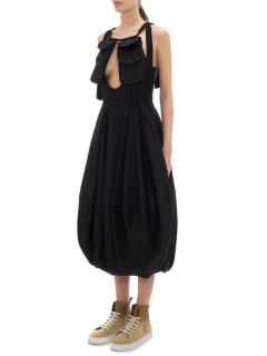 JW Anderson Black Balloon Dress with Utility Pockets